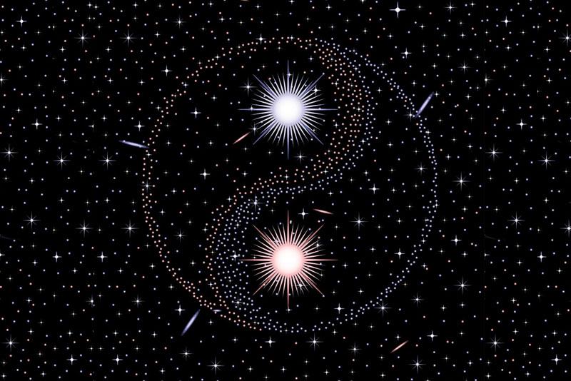 Star Yin Yang image represents evolving relationships